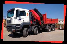 Grúas Duero S.L. camión pluma
