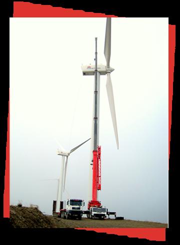 Grúas Duero S.L. molinos de viento